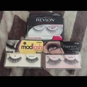 Lot of 6 New Pairs of assorted, fake eyelashes